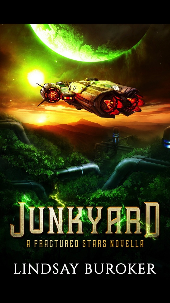Front cover design for Junkyard by Lindsay Buroker